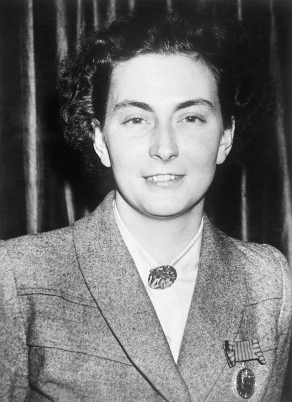 Andrée de Jongh. Zdjęcie pochodzi z 1946 roku (źródło: domena publiczna).