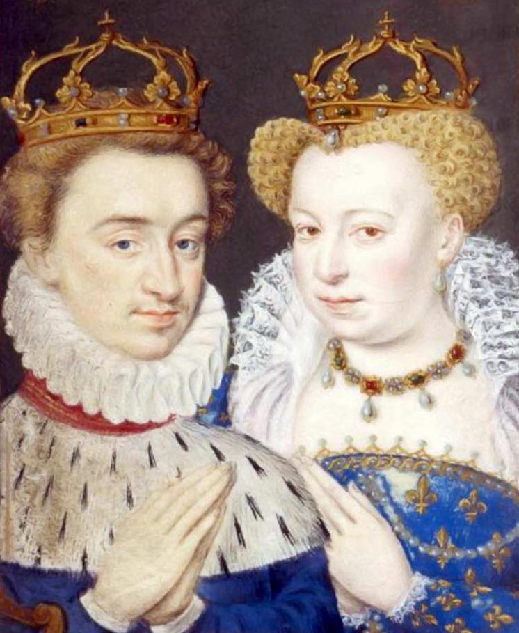 Margot mogła pomyśleć, patrząc na ten wizerunek, że z mężem najlepiej wychodzi się na portrecie. Małżeństwo, od początku niedobrane, kilkukrotnie okazało się dla niej śmiertelnie niebezpieczne (źródło: domena publiczna).