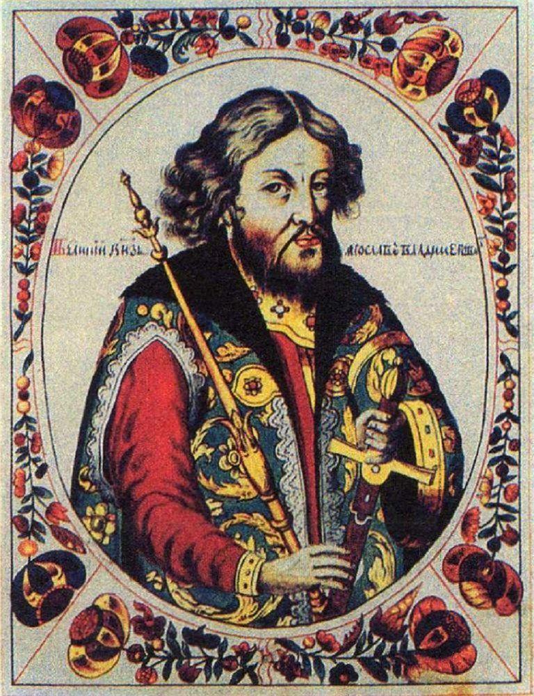 Według ruskich Latopisów Kazimierz układał się z samym Jarosławem Mądrym. Człowiekiem, który jeszcze niedawno był zapiekłym wrogiem jego ojca. Na ilustracji XVII-wieczna podobizna Jarosława (źródło: domena publiczna).