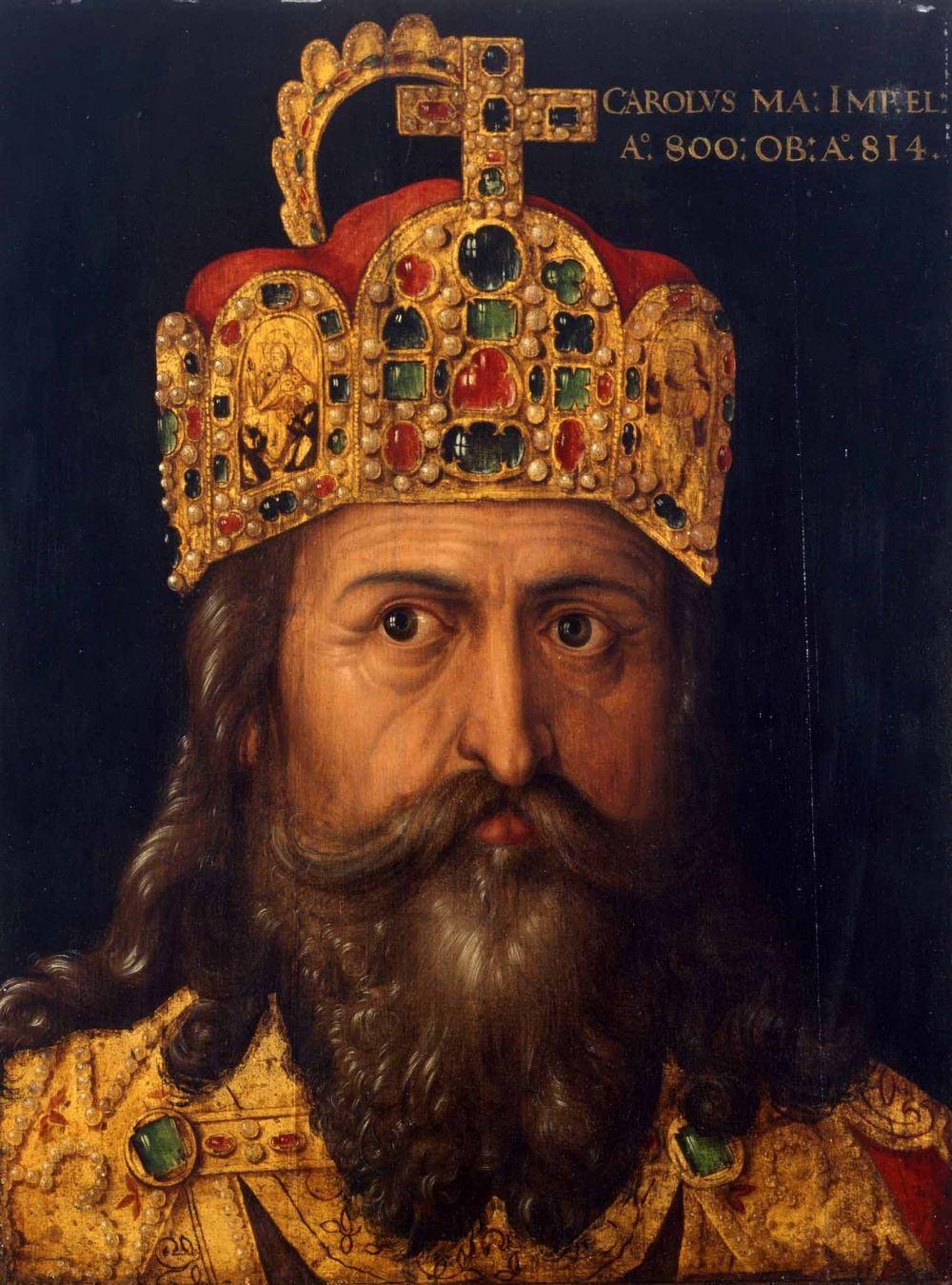 Na przełomie X i XI wieku uważano, że tylko ci w których żyłach płynie krew Karola Wielkiego mogą tytułować się królami (źródło: domena publiczna).