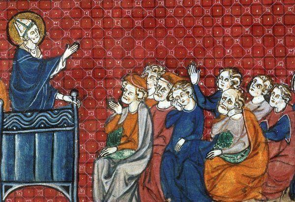 Rzucając swoją klątwę Gaudenty bez wątpienia zadbał, aby w katedrze pojawili się najbardziej wpływowi ludzie w państwie pierwszych Piastów (źródło: domena publiczna).