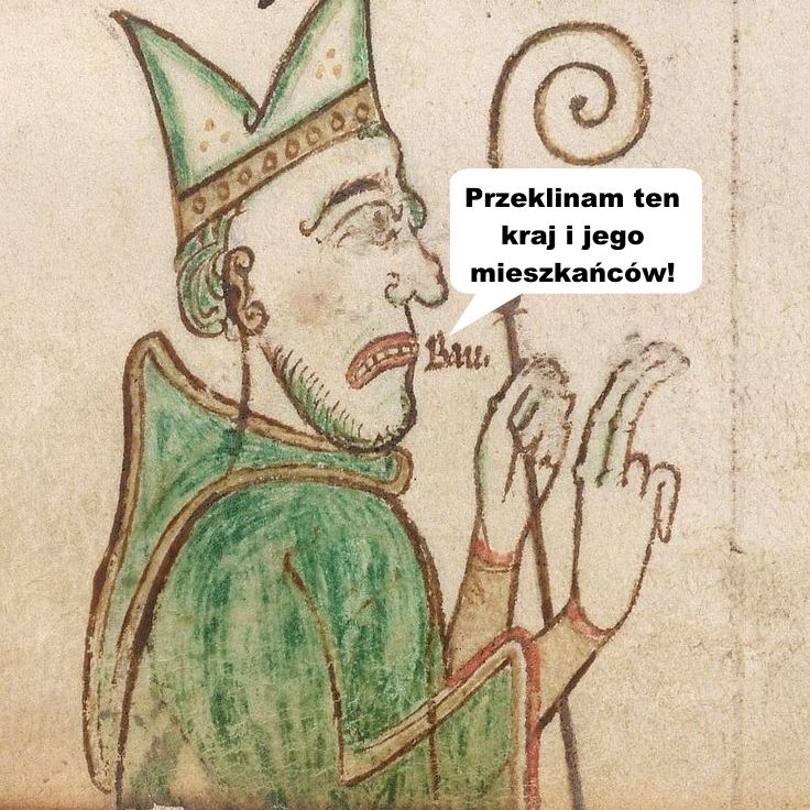 Klątwa Gaudentego była początkiem końca imperium Chrobrego (źródło: domena publiczna).