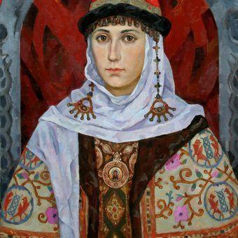 """Portret Marii Dobroniego autorstwa Mihaila Dvoeglazova. To właśnie między innymi ona zadbała, aby Kraków był godzien miana stolicy Poldki. Ilustracja z książki """"Damy ze skazą""""."""