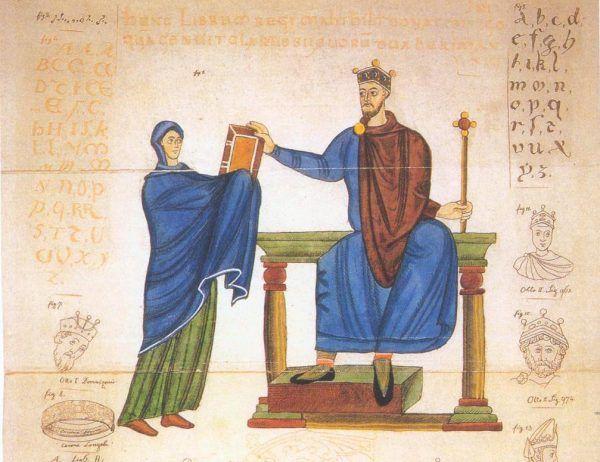 Wizerunek Mieszka II z Kodeksu Matyldy (źródło: domena publiczna).