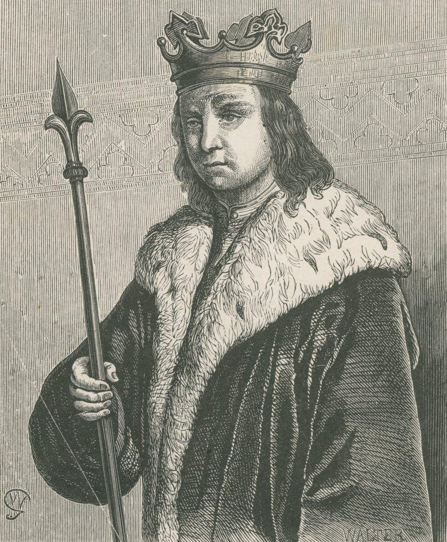 W 1029 roku Konrad II postanowił ukarać pychę polskiego władcy. Jednak wyprawa zbrojna poszła kompletnie nie po jego myśli. Na ilustracji podobizna Mieszka II autorstwa Wojciecha Gersona (źródło: domena publiczna).