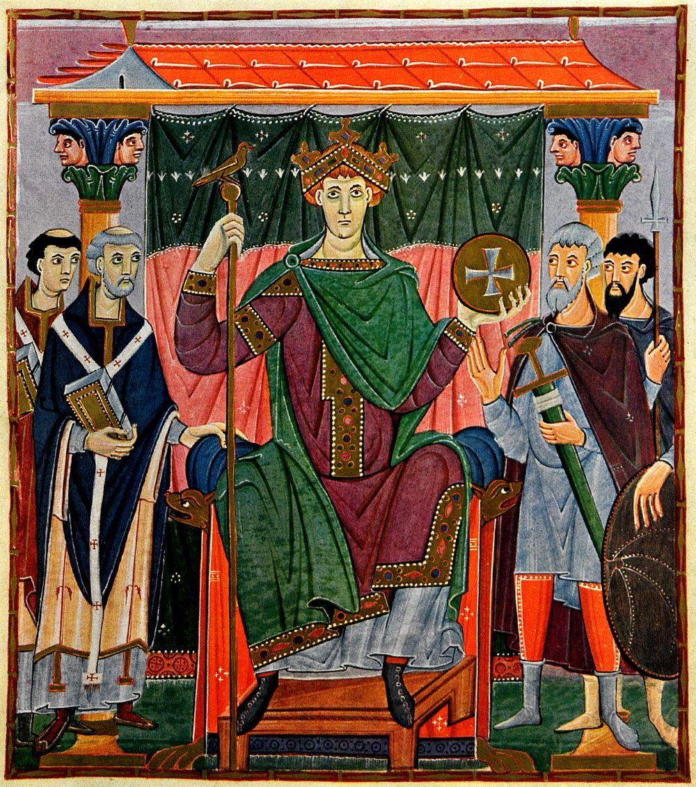 Ojcem chrzestnym knującemu przeciw bratu polskiego królewicza, był sam niemiecki cesarz. Stanowiło to niezwykle istotny atut w negocjacjach z naszym zachodnim sąsiadem. Na ilustracji cesarz Otton III (źródło: domena publiczna).