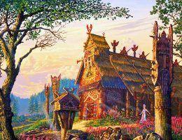 Piękne słowiańskie świątynie? Takie rzeczy to tylko w bajkach (źródło: domena publiczna).