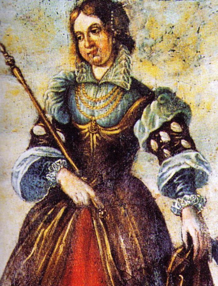Czy Rycheza naprawdę zasłużyła sobie na wszystkie inwektywy jakimi ją obrzucano przez wieki? Na ilustracji fragment nowożytnego malowidła z Brauweiler (źródło: domena publiczna).