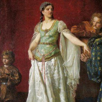 Pierwsza polska królowa na obrazie Wojciecha Gersona (źródło: domena publiczna).