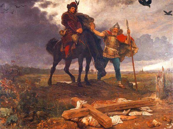 Powrót księcia Kazimierza do Polski na obrazie Wojciecha Gersona (źródło: domena publiczna).