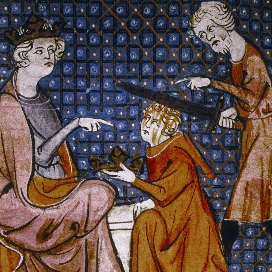 Egzekucja na XIV-wiecznej miniaturze z francuskiego kodeksu