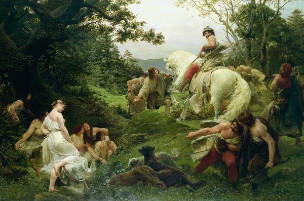 Czeski książę Ołdrzych na romantycznym, XIX-wiecznym portrecie.