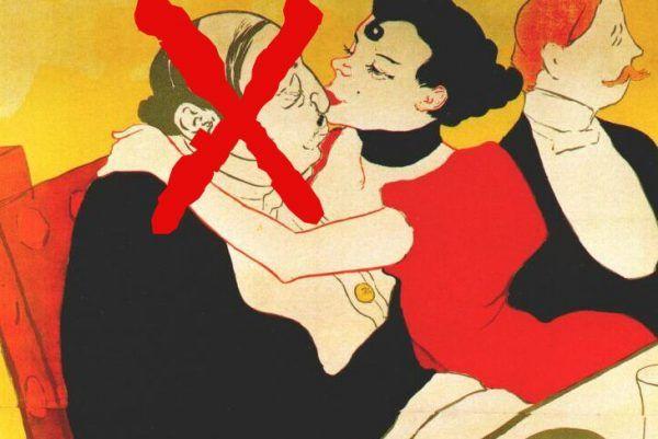 Nie chcesz mojej miłości? Zatem giń! Zmodyfikowany fragment plakatu autorstwa Henriego de Toulouse-Lautreca (źródło: domena publiczna).