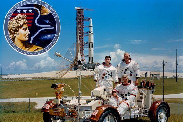 Załoga misji Apollo 17 przed startem (fot. NASA, domena publiczna).