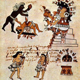 Aztekowie do Sylwestra podchodzili śmiertelnie poważnie. Dosłownie (źródło: domena publiczna).