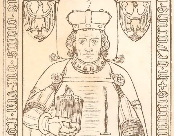 Jeżeli wierzyć przekazom żywot Bolesława III zakończyło wielkie obżarstwo. Na ilustracji fragment XIX-wiecznej rekonstrukcji tumby Bolesława w Lubiążu (źródło: domena publiczna)