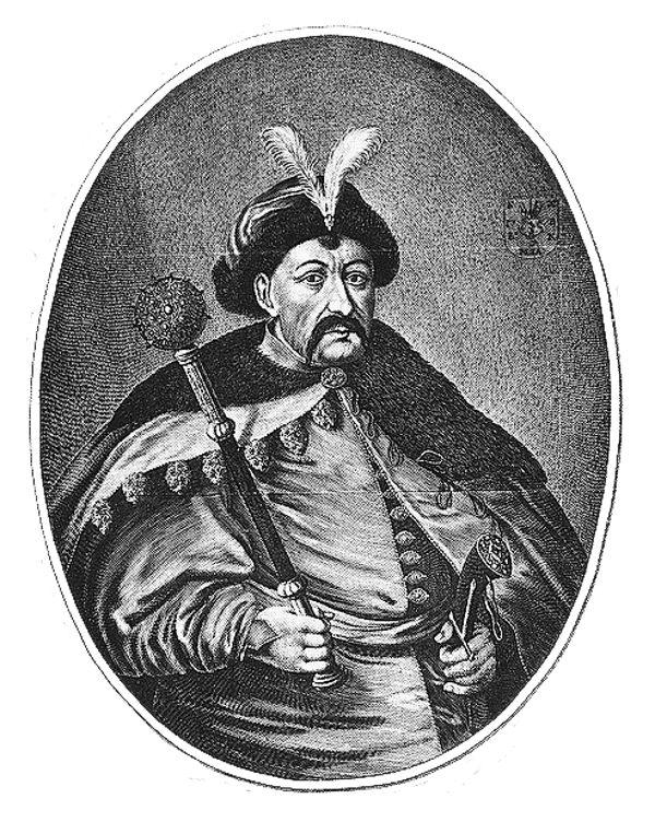 Na przedstawieniu Willema Hondiusa Chmielnicki nie wygląda przerażająco, ale jego zła sława mogła pewnie niejednego skłonić do ucieczki. (źródło: domena publiczna).