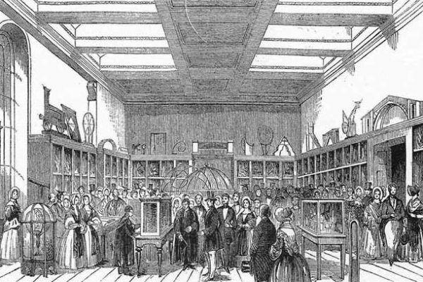 Tych maszyn może i nie dało się podłączyć do Internetu, ale stanowiły ważny krok w rozwoju komputeryzacji. Element maszyny różnicowej prezentowany na wystawie z okazji otwarcia muzeum króla Jerzego III (1843).