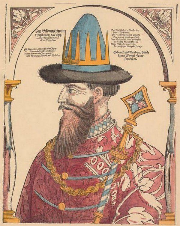 Iwan IV Groźny przeszedł do historii jako okrutnik i sadysta. Nic dziwnego, skoro zabijać lubił od dzieciństwa... Portret cara przygotowany przez Ch. Weigla w 1882 roku (źródło: domena publiczna).