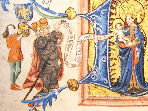 Mieszko II Otyły w pełni zasłużył na swój przydomek. Obżarstwo wpędziło go w końcu do grobu (źródło: domena publiczna).
