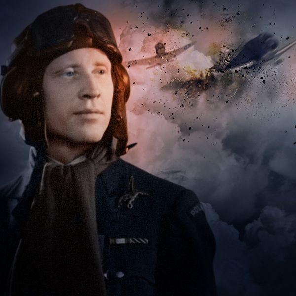 Polscy pilocie myśliwcy w trakcie II wojny światowej pokazali na co ich stać. Grafika autorstwa Adama Pietrzyka.