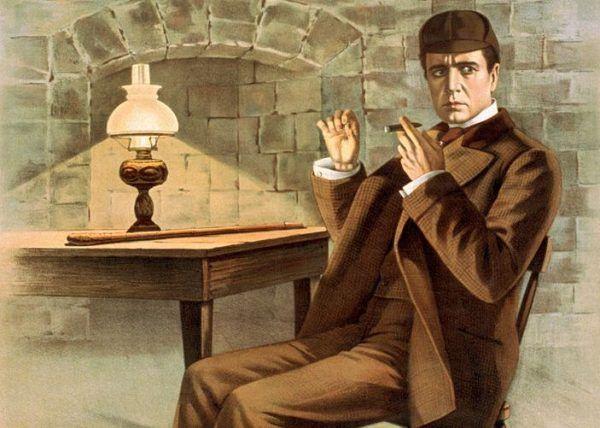 Sherlock Holmes ma wiele cech wspólnych z Dupinem (źródło: domena publiczna).