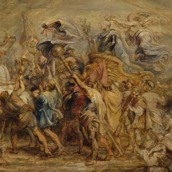 """Fragment obrazu """"Triumf Henryka IV"""" pędzla Rubensa (źródło: domena publiczna)."""