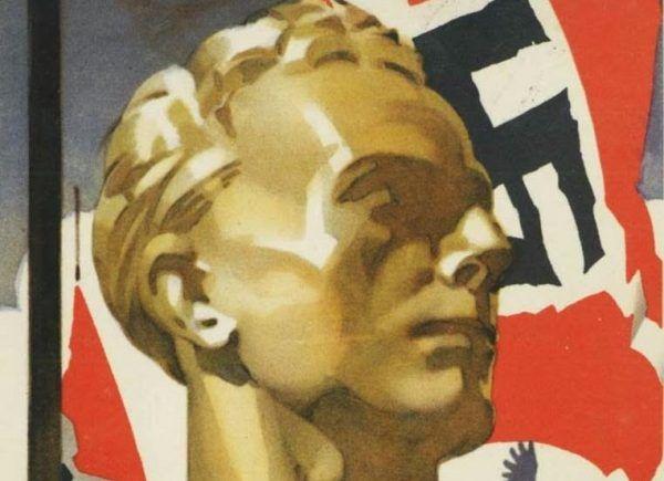 Na nic zdała się hitlerowska machina propagandowa. Manfred Zanker nie dał zrobić z siebie modelowego nazisty. Na ilustracji fragment niemieckiego plakatu propagandowego (źródło: domena publiczna).