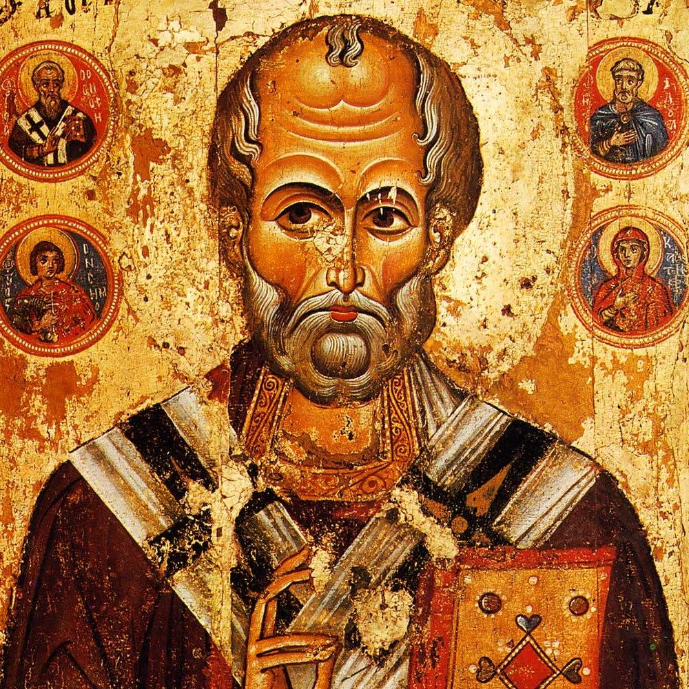 Święty Mikołaj na ruskiej ikonie z XIII wieku.