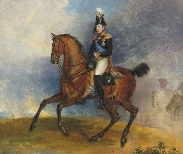 Taki młody... a już taki okrutny. Konny portret Mikołaja I pędzla George'a Dawe'a z 1822 roku (źródło: domena publiczna).