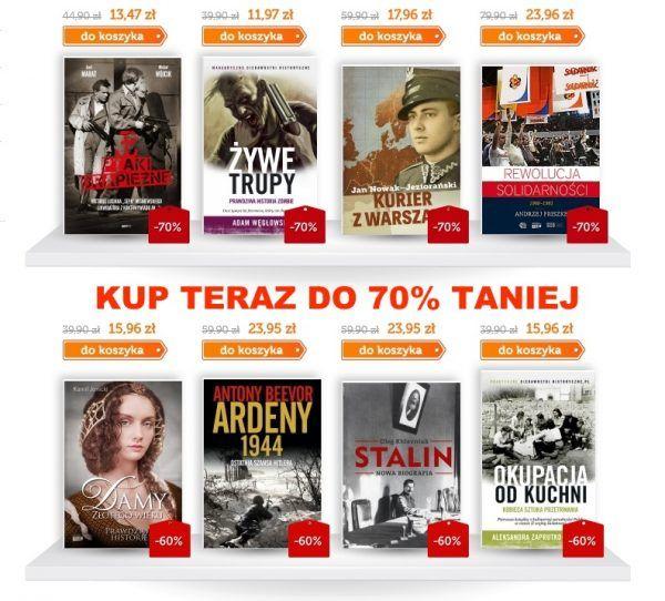 Kup setki książek do 70% taniej!