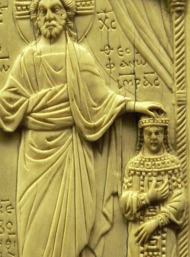 Cesarzowa Teofano i... Jezus Chrystus. Oprawa kodeksu z X stulecia.