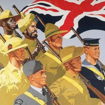 """Fragment brytyjskiego plakatu z II wojny światowej """"Together""""."""
