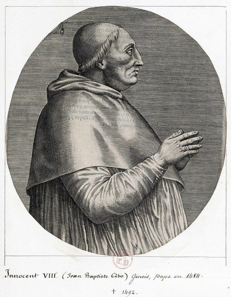 Papież Innocenty VIII nawet nie krył się z tym, że ma dzieci (źródło: domena publiczna).