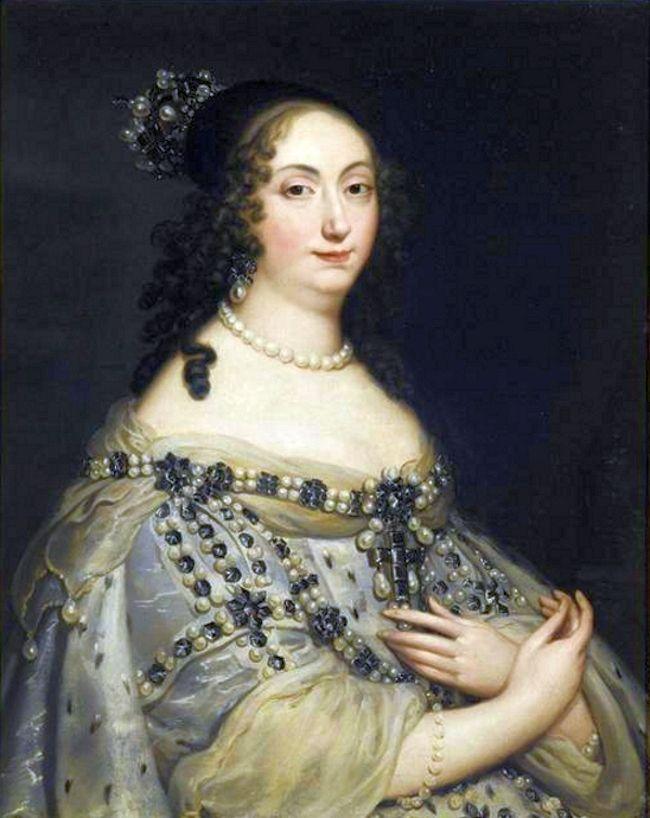 Ludwika Maria - tu na portrecie Justusa van Egmonta - dobrze wyszkoliła swoje dwórki. Nawet po jej śmierci, jako najprzedniejsze damy Rzeczypospolitej, ani na chwilę nie rezygnowały z intryg (źródło: domena publiczna).