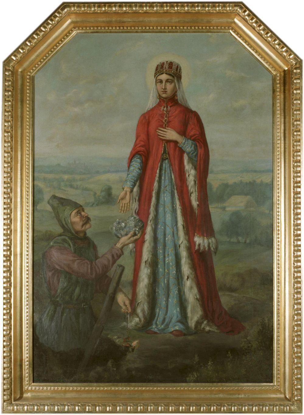 Cudowne wstawiennictwo świętej Kingi (powyżej na portrecie autorstwa Ferdynanda Olesińskiego)aż dwukrotnie pomogło biskupowi Pawłowi uniknąć nieprzyjemności. Czy modliłaby się za niego, gdyby faktycznie porwał jedną z mniszek z jej zakonu? (źródło: domena publiczna).