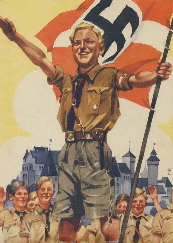 Holender Eric von Carlsen miał pecha, wyglądał jak z nazistowskiego plakatu propagandowego. To wystarczyło, aby trafił do Zgody (źródło: domena publiczna).