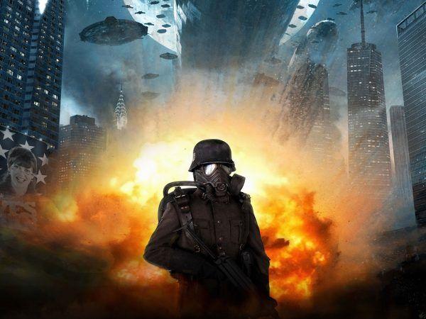 """W filmie """"Iron Sky"""" naziści atakują Stany Zjednoczone z kosmosu. Rzeczywistość była mniej spektakularna, jednak, gdyby operacja """"Pastorius"""" się powiodła jej efekt psychologiczny byłby trudny do przecenienia (na ilustracji kadr z kultowego filmu)."""