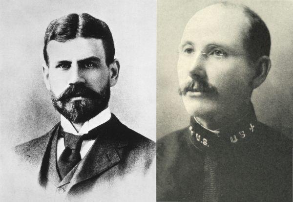 By udowodnić, że komary przenoszą żółtą febrę, Jesse Lazear (z lewej) i James Carroll (z prawej) sami wystawili się na ugryzienie. Niestety dla pierwszego z nich eksperyment skończył się tragicznie (źródło: domena publiczna).