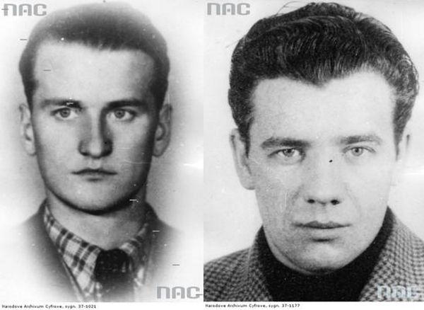 Kapitan Walery Krokay (z lewej) i podporucznik Władysław Śmietanko (z prawej). Źródło: domena publiczna.