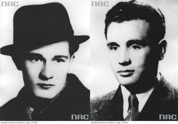 Podporucznik Ryszard Chmieloch (z lewej) i porucznik Bronisław Czepczak (z prawej). Żródło: domena publiczna.
