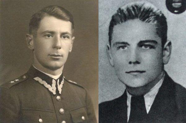 Major Jan Kiwerski (z lewej) i podporucznik Kazimierz Kardaś (z prawej). Źródło: domena publiczna.
