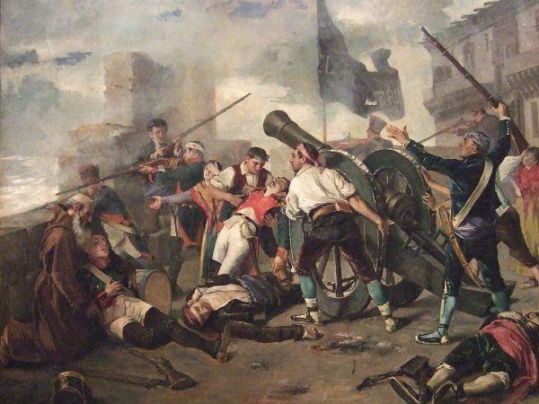 W zdobywaniu Saragossy Francuzom pomagali także Polacy. Bilans oblężenia był straszny - w wyniku starć i od chorób zginęła połowa mieszkańców miasta (obr. Federico Jiménez Nicanor, źródło: domena publiczna).