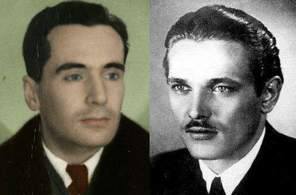 Pułkownik Kazimierz Leski (z lewej) i kapitan Henryk Flame (z prawej). Źródło: domena publiczna.