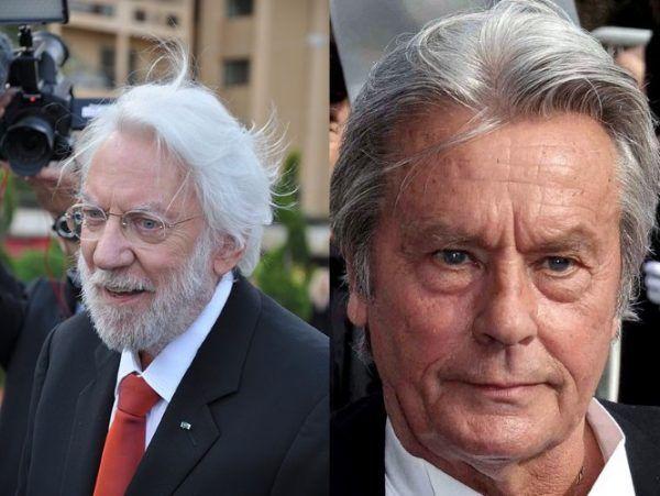 """Historia Casanovy inspiruje twórców na całym świecie. W najsłynniejszego uwodziciela w historii wcielali się między innymi Donald Sutherland (z lewej; zdj. Frantogian, lic. CC BY-SA 3.0) oraz Alain Delon (z prawej; zdj. Georges Biard, lic. CC BY-SA 3.0). Nic dziwnego, że peerelowskie media też chciały mieć """"swojego"""" Casanovę. Pytanie brzmi: czy naprawdę dobrze wybrały?"""