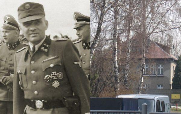 Komendant obozu, Rudolf Höss, sam mieszkający w luksusowej willi, zgadzał się na organizację rozgrywek piłkarskich. Był to jeden z jego sposobów na utrzymanie pozorów, że sytuacja więźniów nie jest tak tragiczna. (źródło: zdj. z lewej fot. Schutzstaffel, domena publiczna; zdj. z prawej fot. יאיר ליברמן, lic. CC BY-SA 3.0).