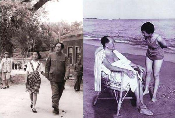 Li Na była znacznie groźniejsza, niż na to wyglądała. Na zdjęciach widać jak spędzała z ojcem czas na spacerze (1951 rok) i na plaży (1960 rok) (domena publiczna).