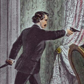 Zamachy na znane osobistości często radykalnie zmieniały sytuację polityczną. Ilustracja przedstawia udany zamach na prezydenta USA, Abrahama Lincolna (źródło: domena publiczna).