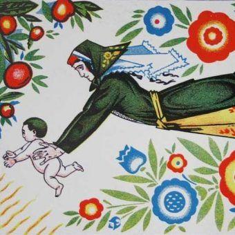 Fragment radzieckiego plakatu.