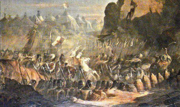 Templariusze nie tylko walczyli i opiekowali się pielgrzymami. Pełnili też rolę bankierów wypraw krzyżowych. I jak wszyscy bankierzy czerpali z tego profity. XIX-wieczny obraz Claude'a Jacquanda przedstawia atak templariuszy na Jerozolimę w 1299 roku (fot. World Imaging, lic. CC BY-SA 3.0).